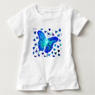 Hand Painted Butterfly Baby Romper Baby Bodysuit