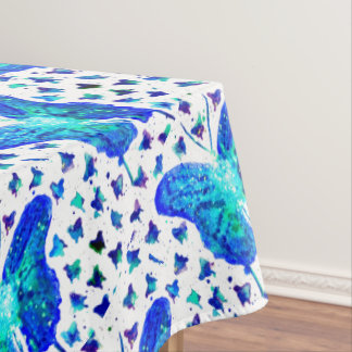 Hand Painted Butterfly Tablecloth