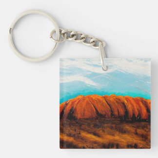 Hand Painted by God Single-Sided Square Acrylic Key Ring