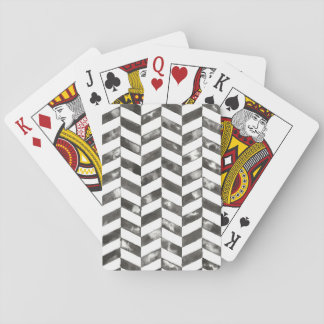 Hand Painted Chevron Playing Cards
