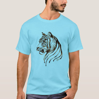 Hand Painted Chocolate Tiger Art Men's T-shirt