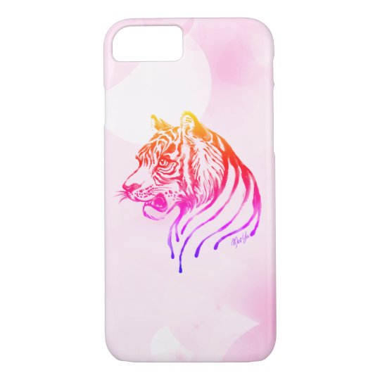 Hand Painted Chocolate Tiger Sunset Phone Case