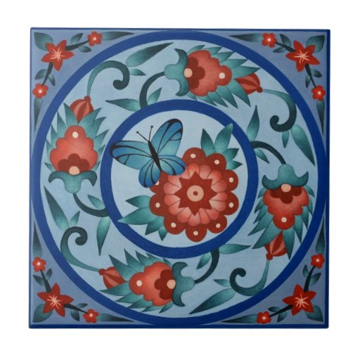 Hand Painted Colorful Islamic Tile