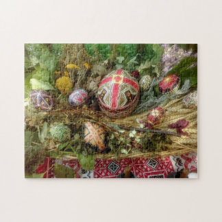 Hand Painted Easter Eggs Jigsaw Puzzle