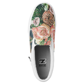 Hand Painted Floral Bouquet Flat Tops Slip-On Shoes