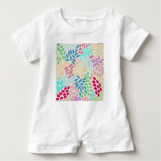 Hand Painted Flower Shower Baby Bodysuit