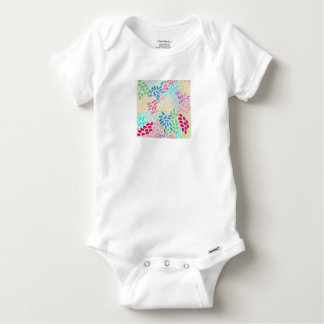Hand Painted Flower Shower Baby Onesie