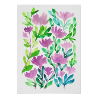 hand painted flowers1a poster