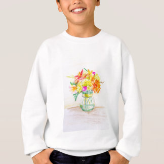 Hand painted flowers sweatshirt