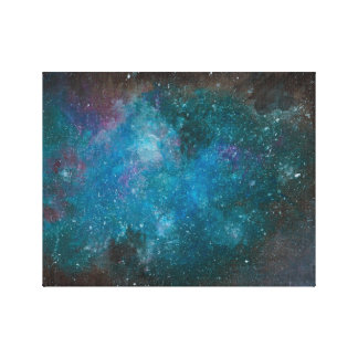 Hand Painted Galaxy Canvas Canvas Print