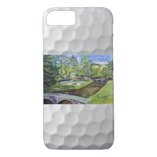 Hand painted golfcourse scene on iphone case