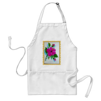 Hand Painted Hibiscus flower Standard Apron