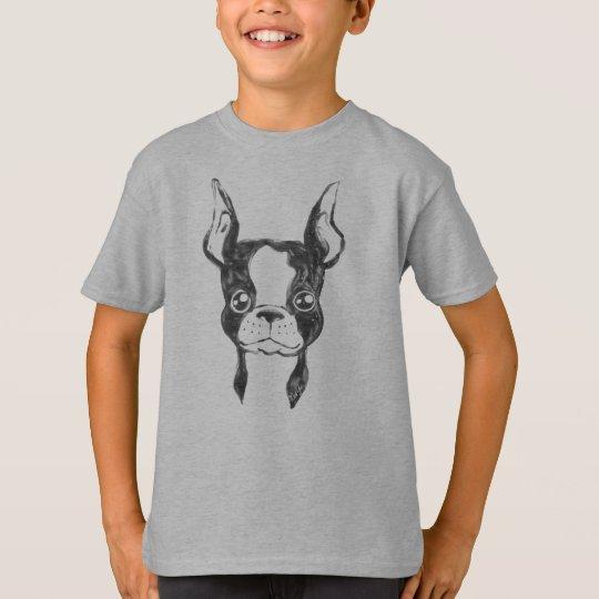 Hand Painted Ketchup Art Dog Boy's T-shirt