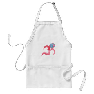 Hand Painted Om Standard Apron