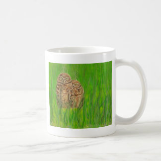 Hand painted owls with an attitude basic white mug