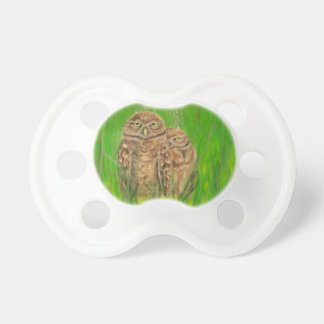 Hand painted owls with an attitude baby pacifier