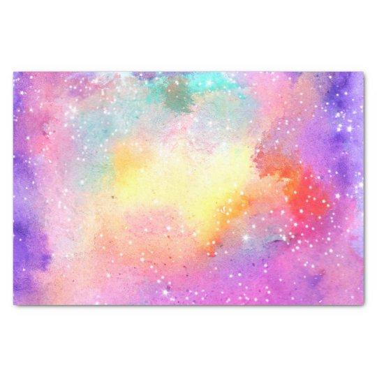 Hand painted pastel watercolor nebula galaxy stars tissue paper | Zazzle.co.uk