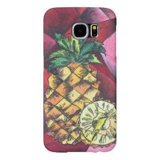 Hand Painted Pineapple Samsung Galexy S6 Cover
