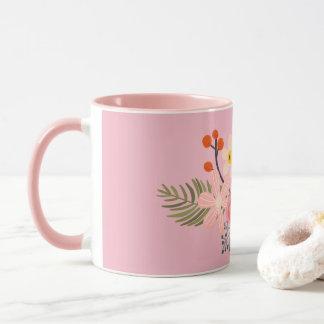 Hand Painted Pink Roses Mug