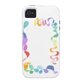 Hand painted rainbow borders case for the iPhone 4