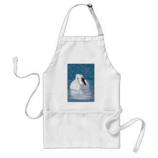 Hand Painted Trumpeter Swan Standard Apron