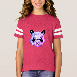 Hand Painted Twilight Panda Girl's Football Shirt