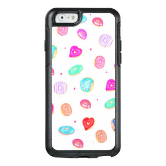 Hand painted watercolor donuts sprinkles pattern OtterBox iPhone 6/6s case