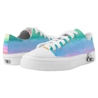 Hand painted watercolor patterns and textures low tops