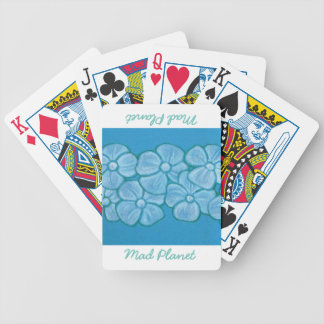 Hand Painted White Flowers Bicycle Playing Cards