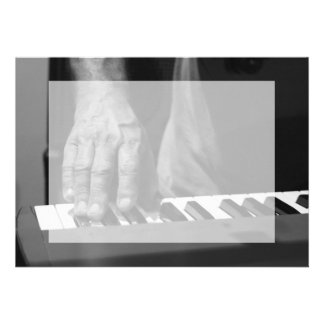 hand playing keyboard bw male music personalized announcement