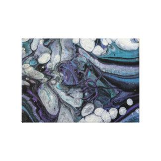 Hand Poured Acrylic Design 12 x 12 Print Canvas