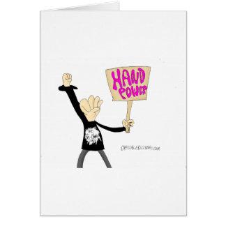 Hand Power Greeting Card