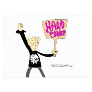 Hand Power Post Card