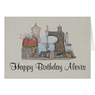 Hand Powered Sewing Machine Greeting Cards