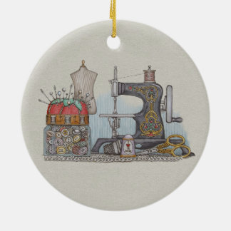 Hand Powered Sewing Machine Christmas Ornament