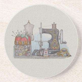 Hand Powered Sewing Machine Coaster