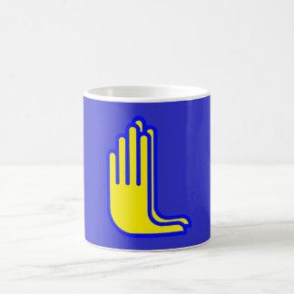 HAND PRAYER SIGNAL JESUS COFFEE MUGS