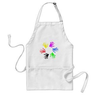 Hand print design standard apron