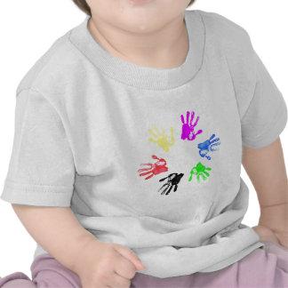Hand print design tshirt