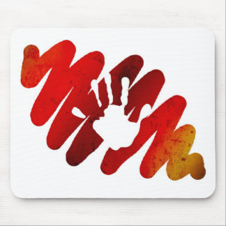 hand print mouse pad
