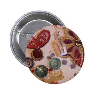 Hand Printed And Sewn Design Pin