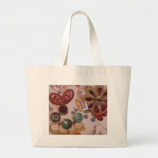 Hand Printed And Sewn Design Tote Bag