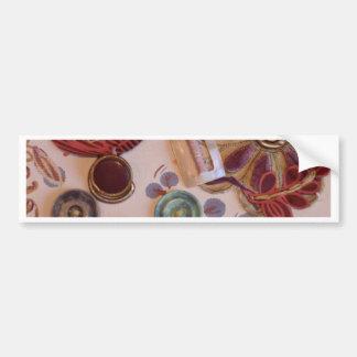 Hand Printed And Sewn Design Bumper Sticker