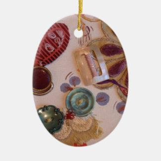 Hand Printed And Sewn Design Christmas Tree Ornaments