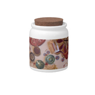 Hand Printed And Sewn Design Candy Jars