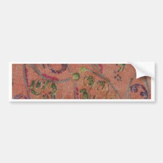 Hand Printed Fabric Design Bumper Sticker