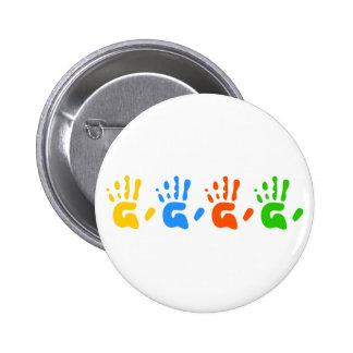 Hand Prints 6 Cm Round Badge