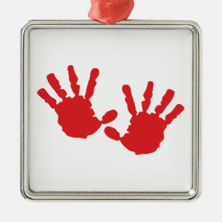 Hand Prints Christmas Ornament