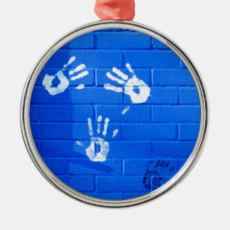 hand prints christmas ornament