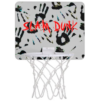 Hand Prints Slam Dunk Mini Basketball Hoop